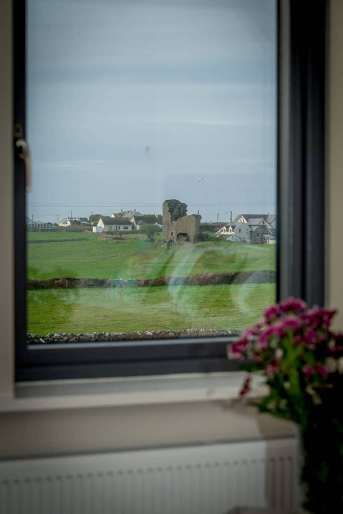 View from a bedroom at Sheedy's Doolin